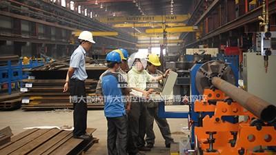 越南钢结构客户现场
